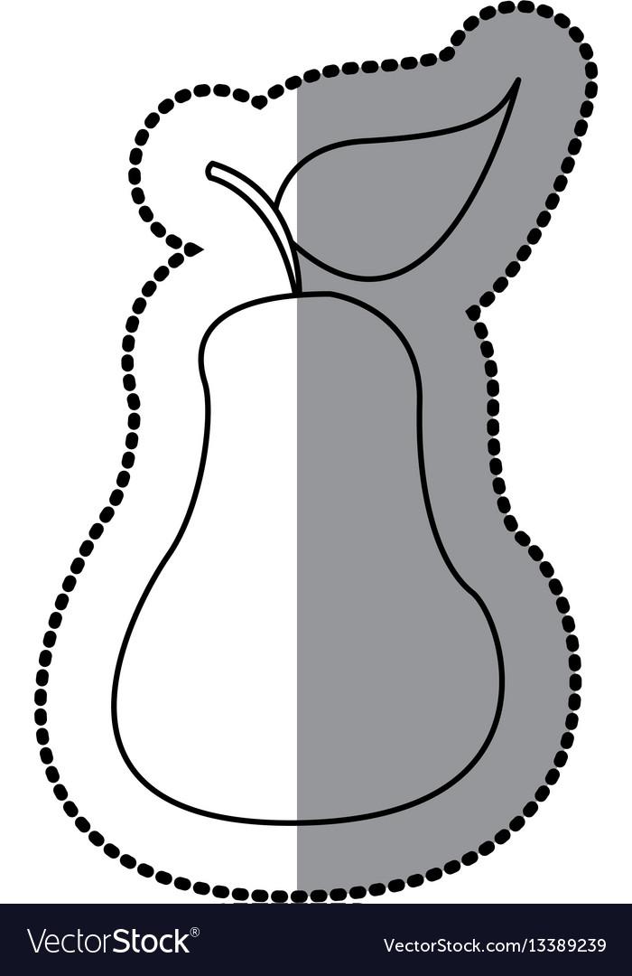 Figure pear fruit icon stock