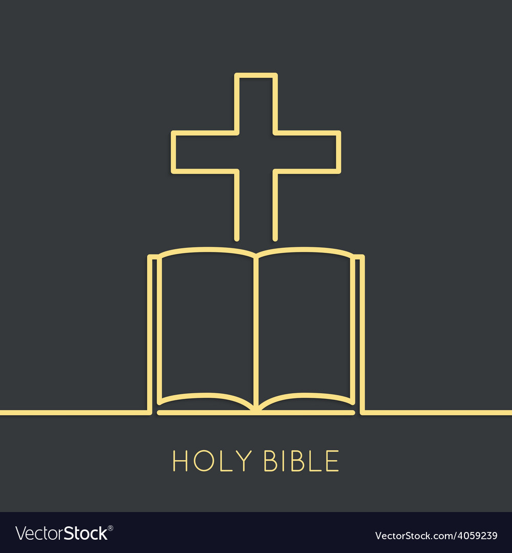 Open Bible with a crucifix