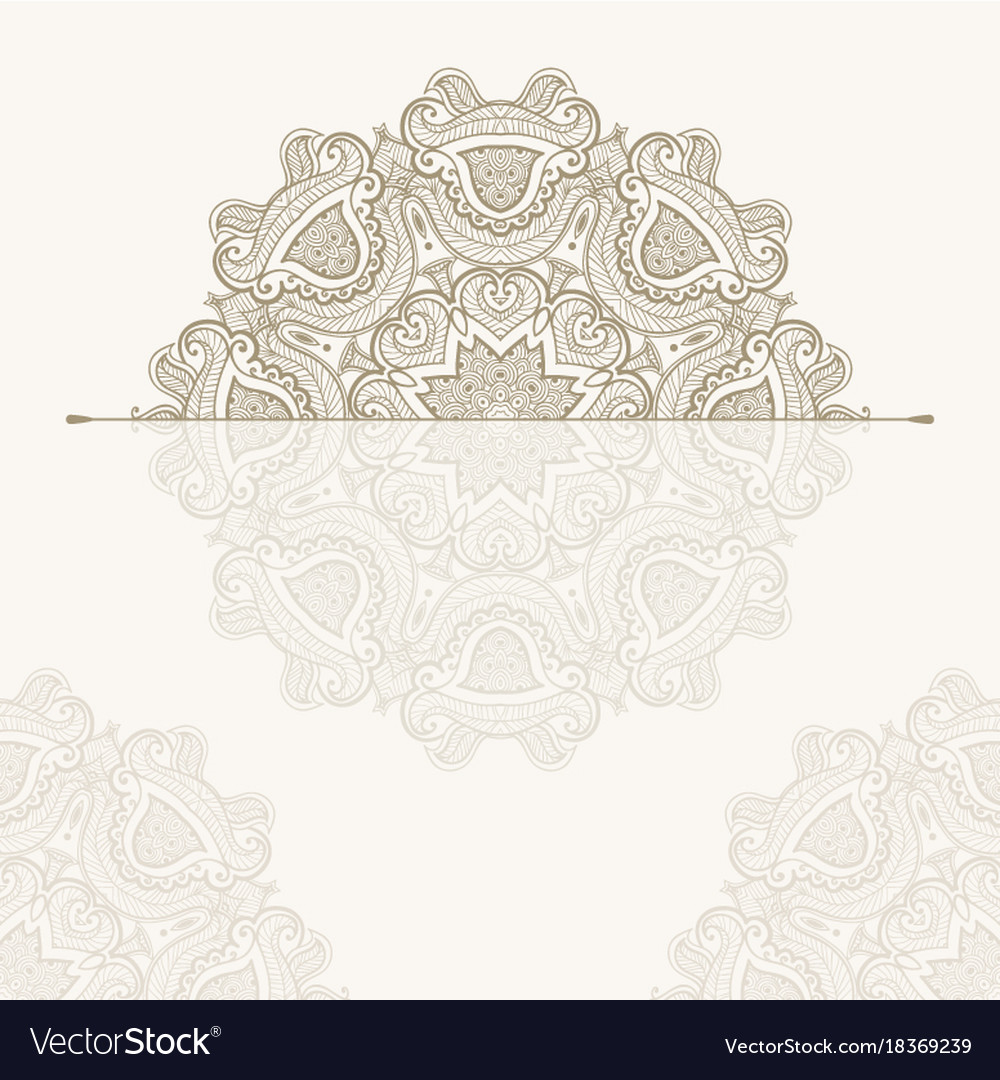 Template of oriental greeting card or invitation