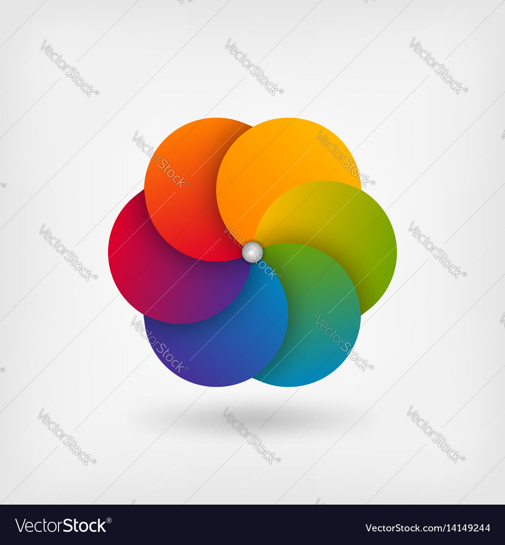 Abstract circle symbol in rainbow colors vector image