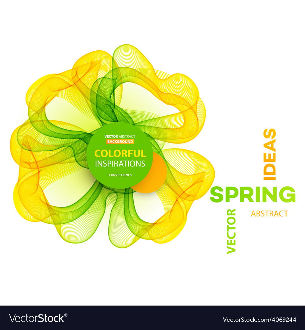 Abstract spring background Template brochure