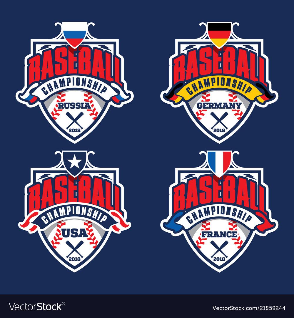 Baseball championship badge logotypes