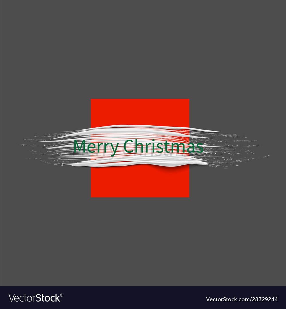 Christmas background with white paint brush