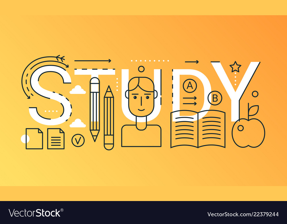 Education learning 2019 word trendy composition