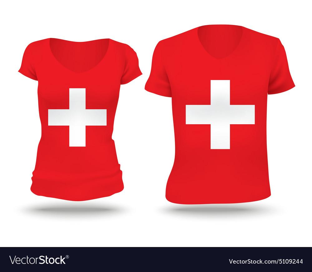 Flag shirt design of Switzerland