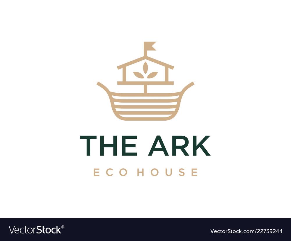 Modern professional logo the ark construction on