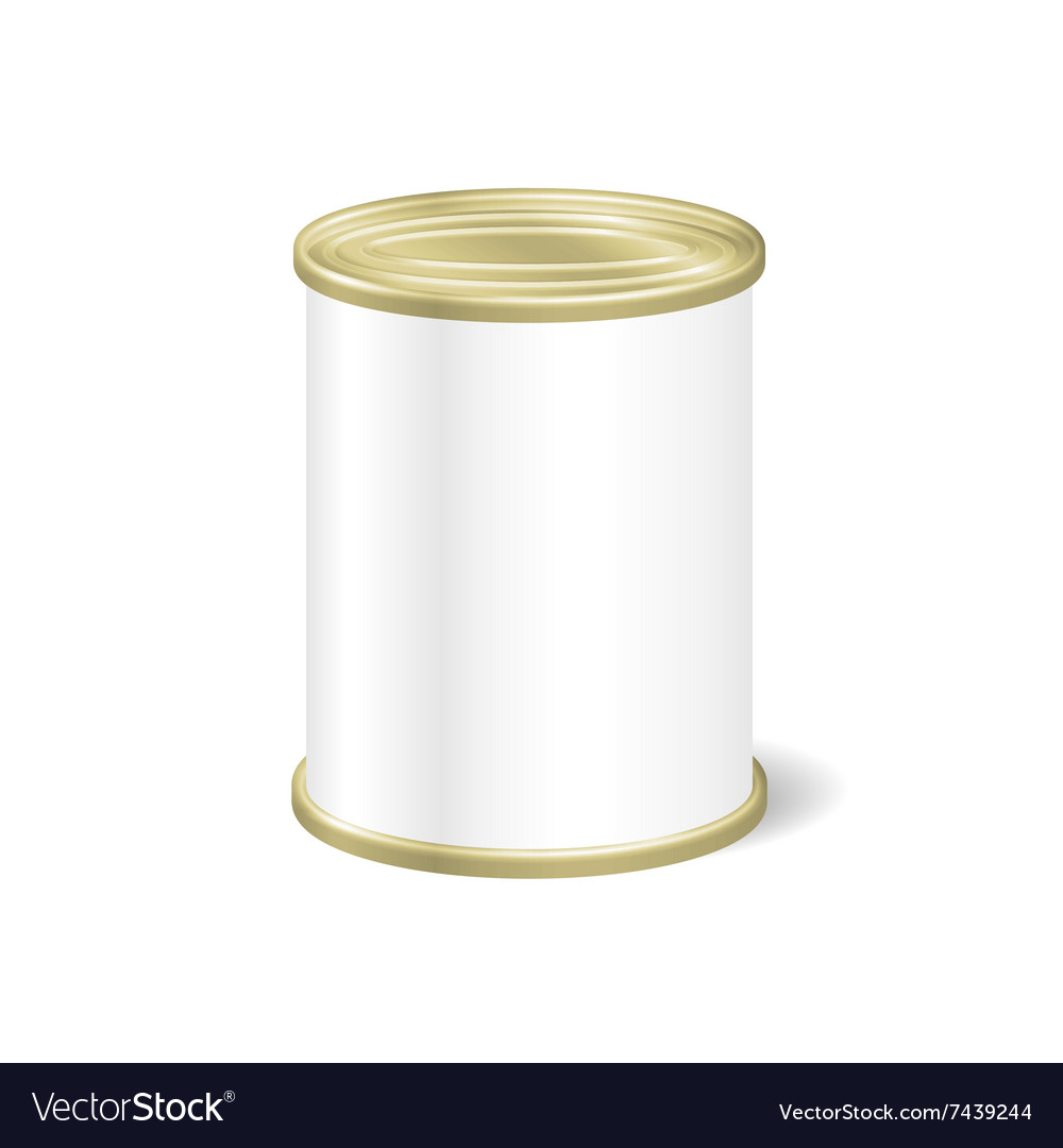 Realistic Blank Tin For Canned Food Preserve