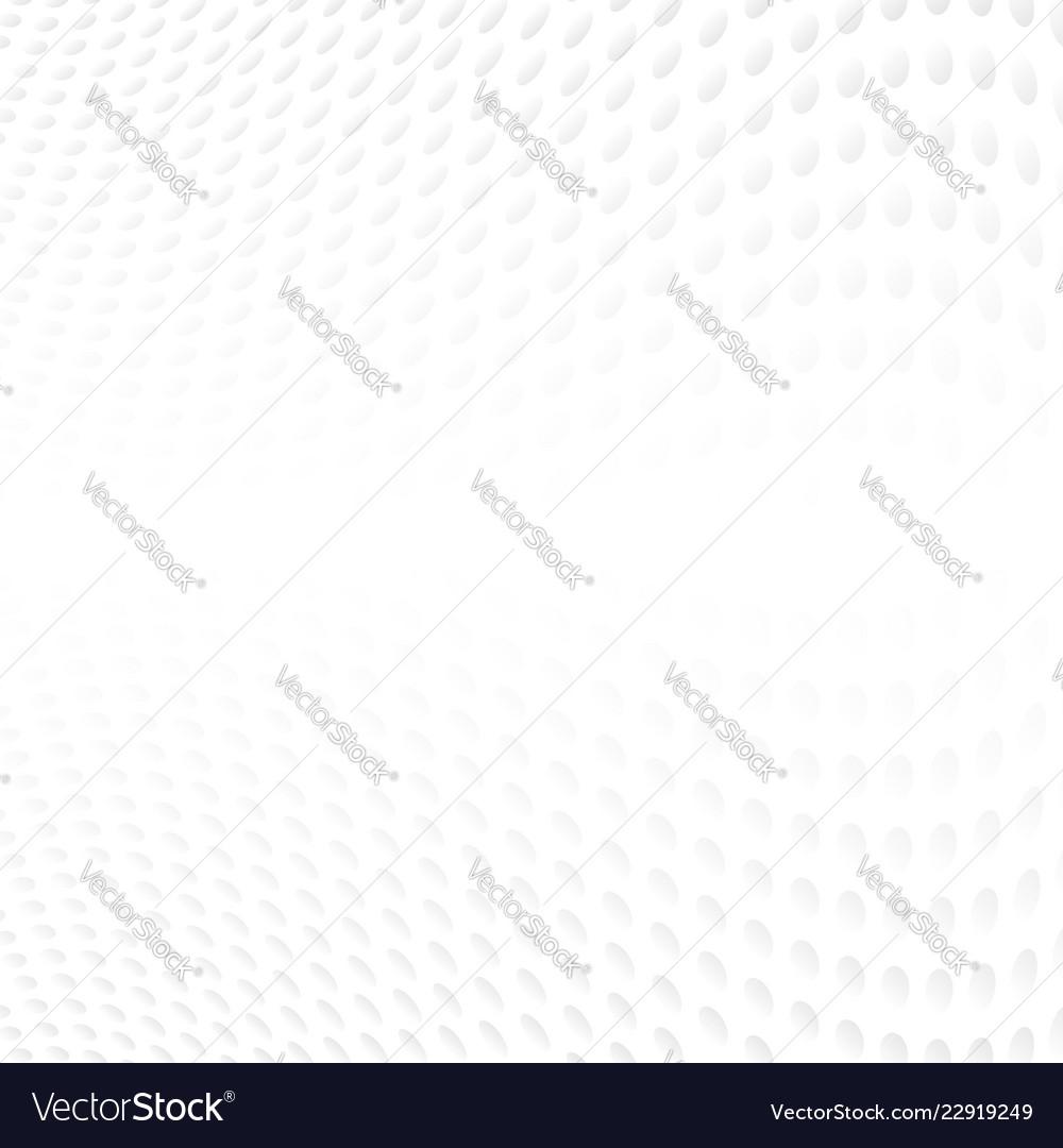 Abstract halftone of gray curve polka dots