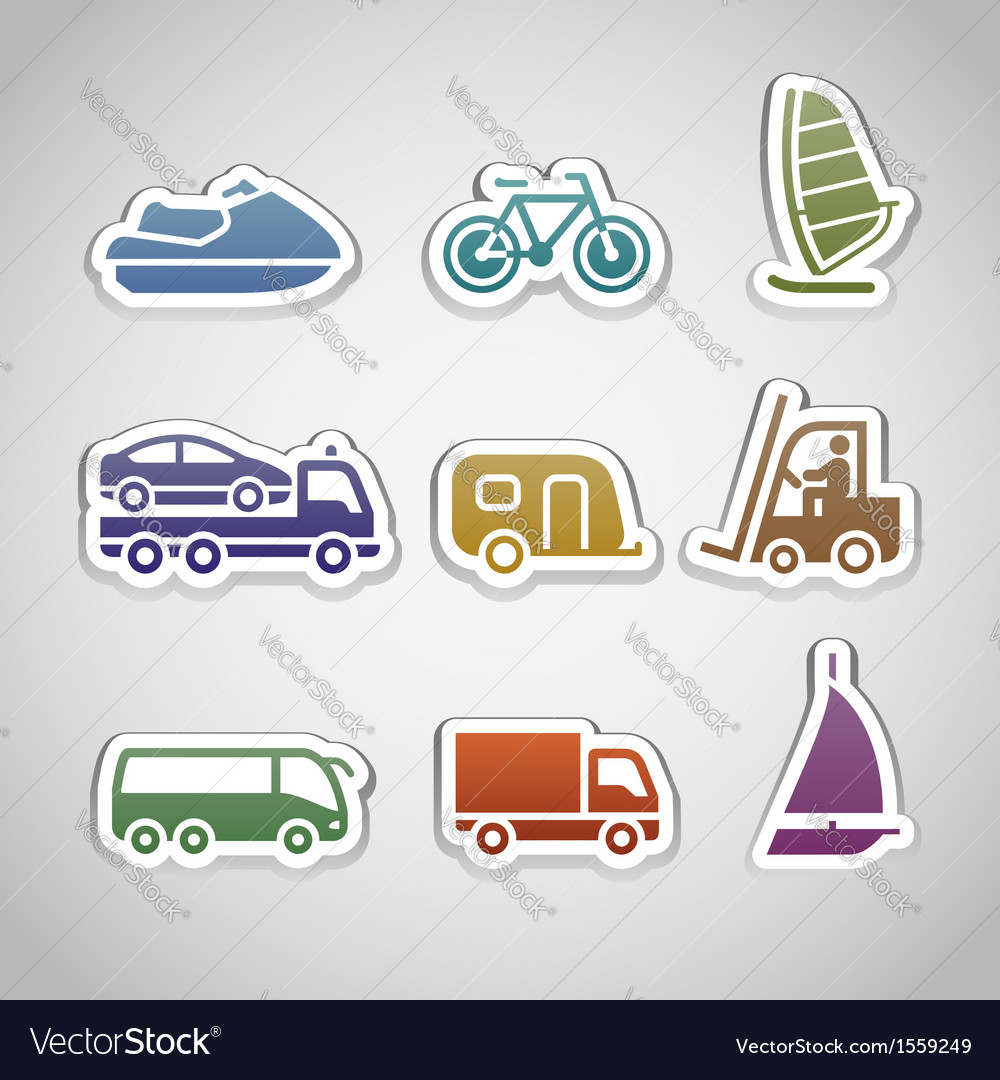 Flat Retro Color Stickers
