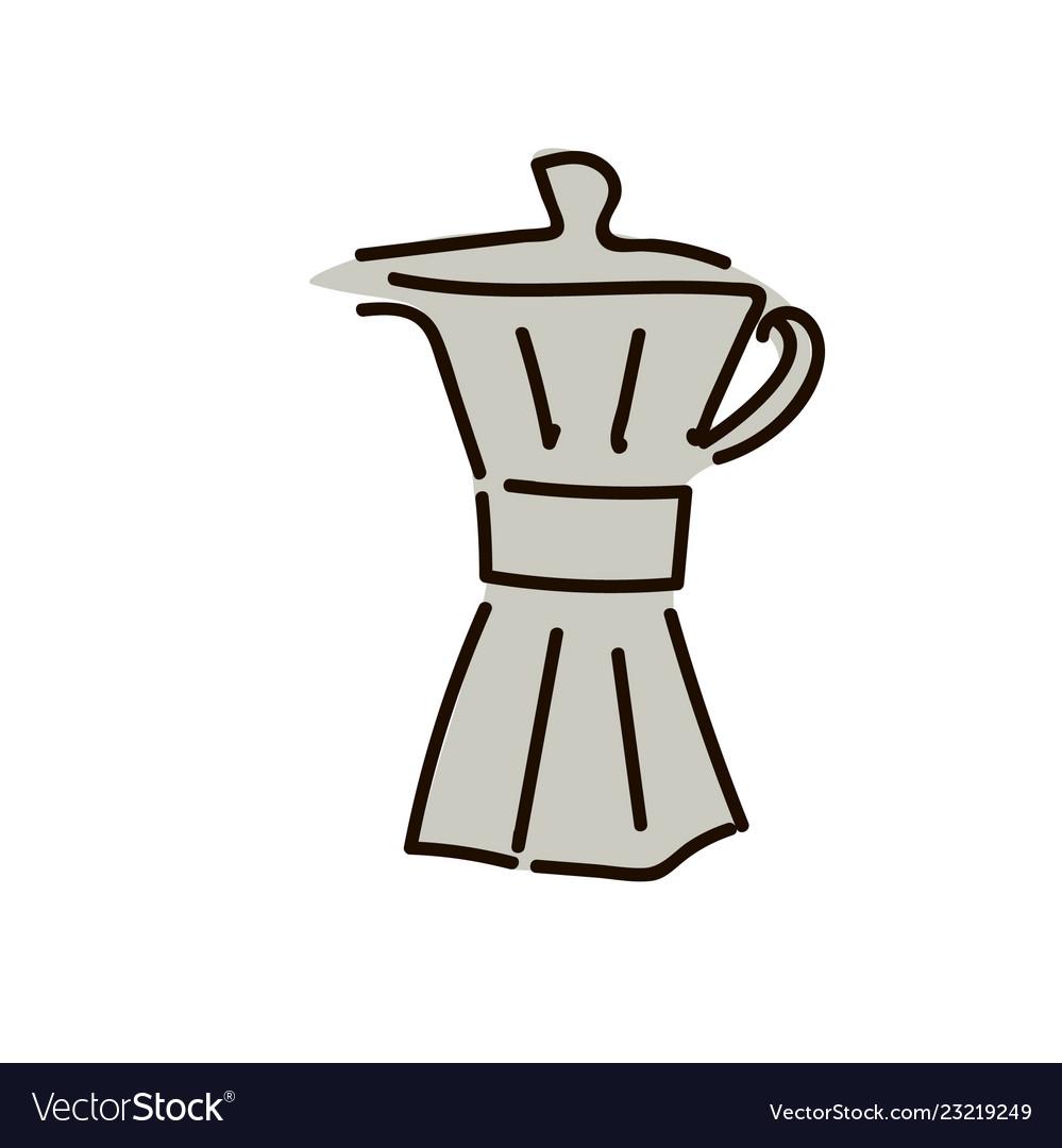 Hand drawn set of coffee