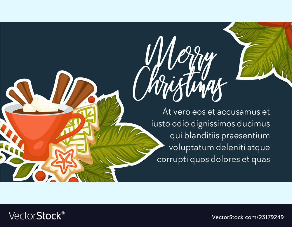 Merry christmas banner with text sample