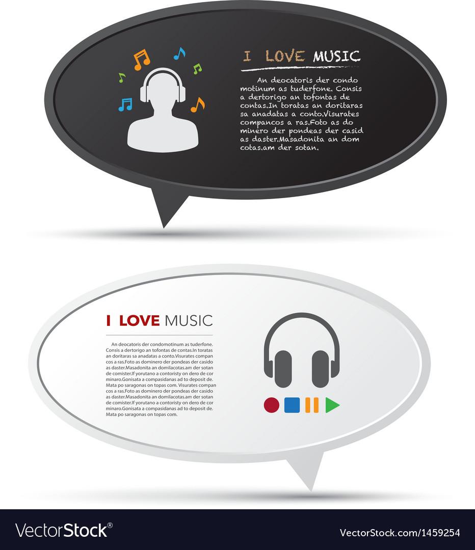 3D bubble talk blackboard Design element EPS10