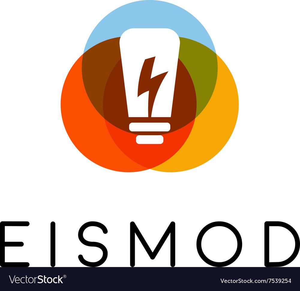 Abstract bulb lamp flash logo design Energy idea