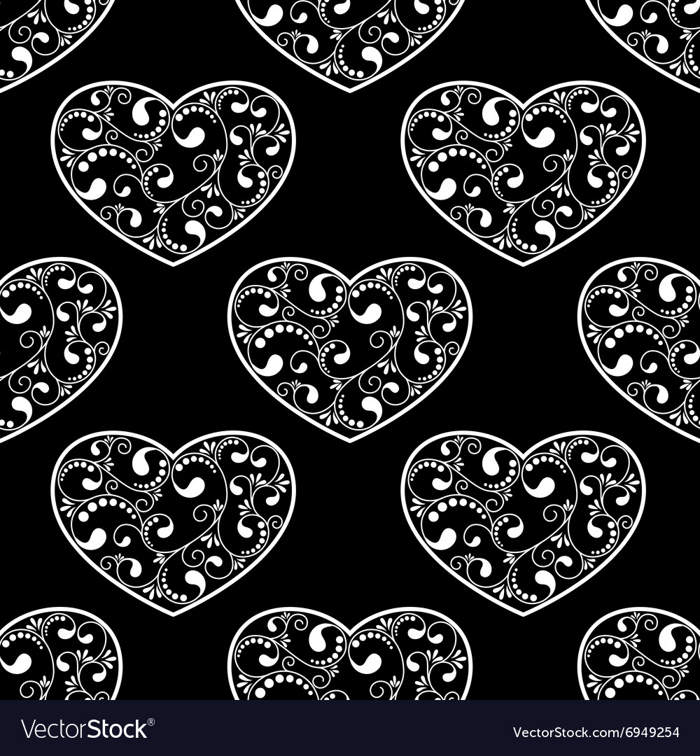Black hearts seamless