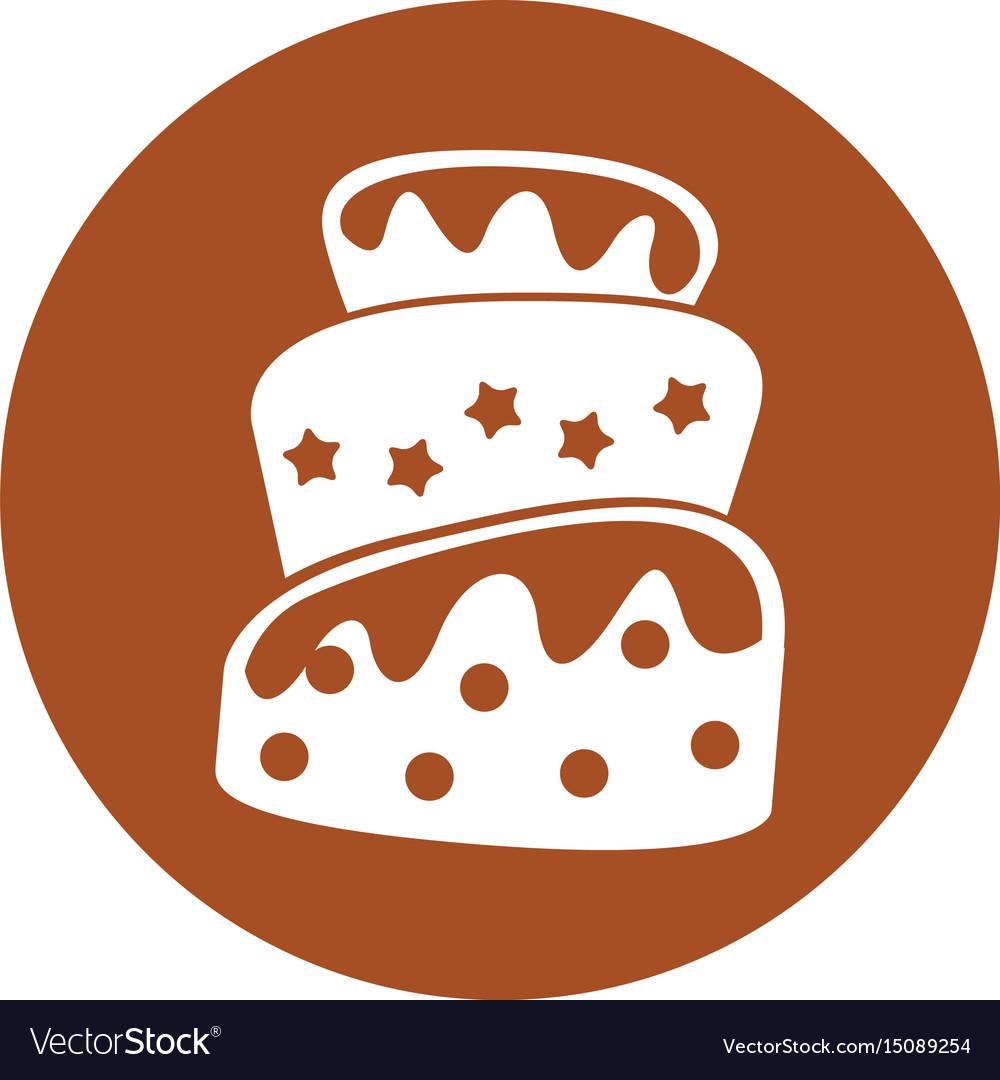 Delicious cake celebration icon