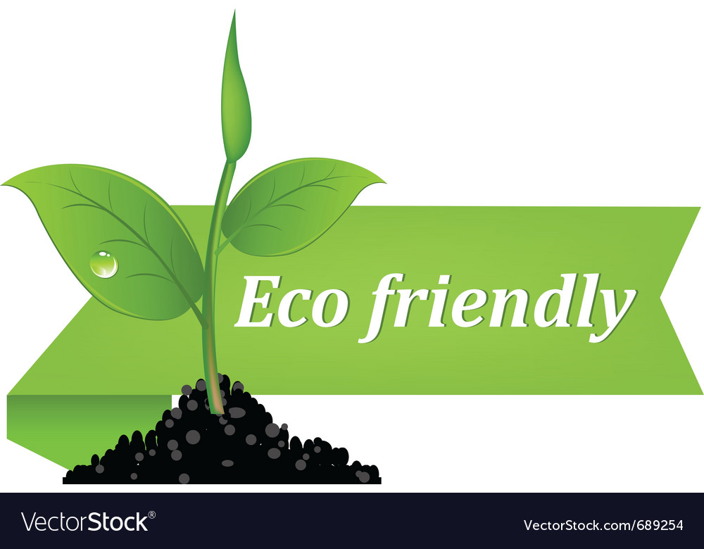 Eco Friendly Banner Royalty Free Vector