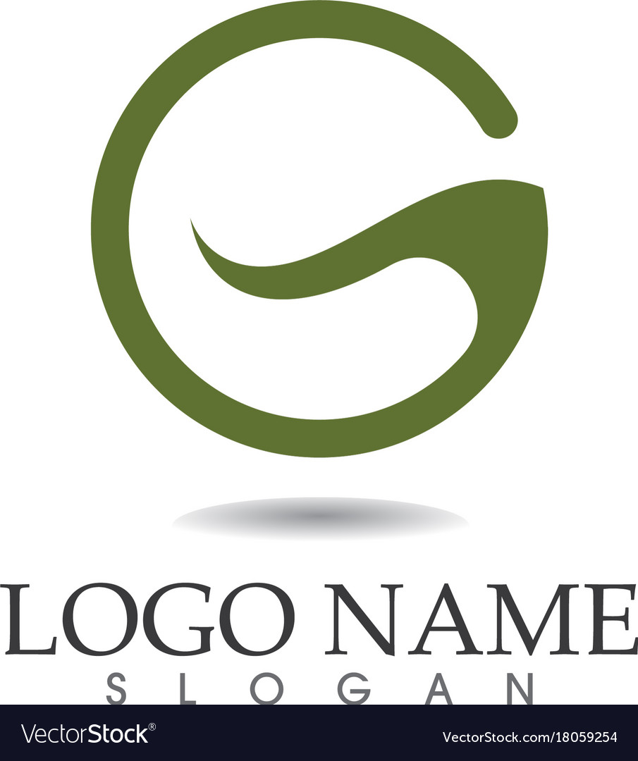 G Letters Logo And Symbols Template Icons App Vector Image