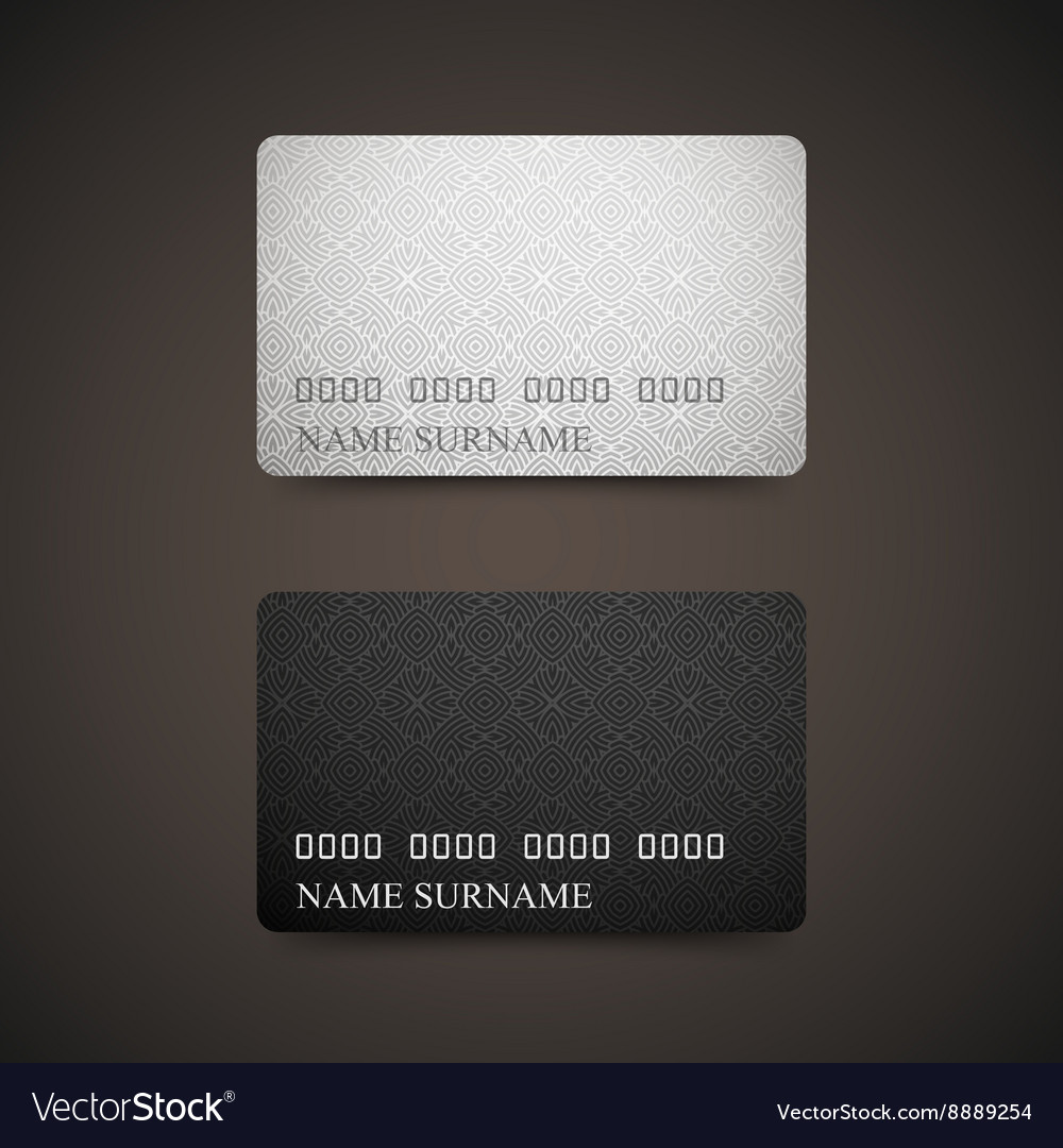 gift or credit card design template vector image