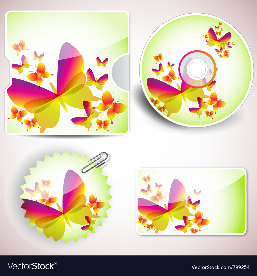 Templates for cd and cards vector image