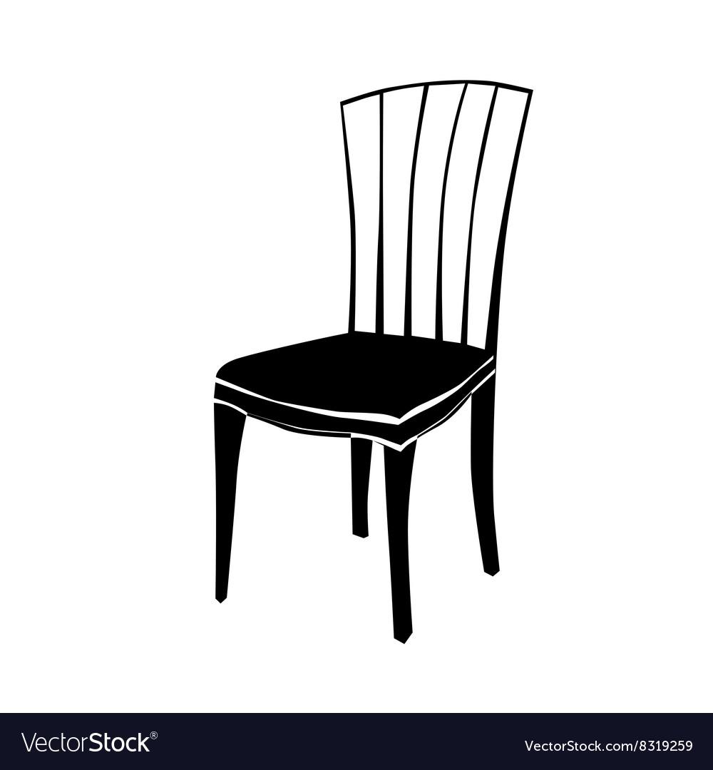 Superbe Art Deco Chair Silhouette Vector Image