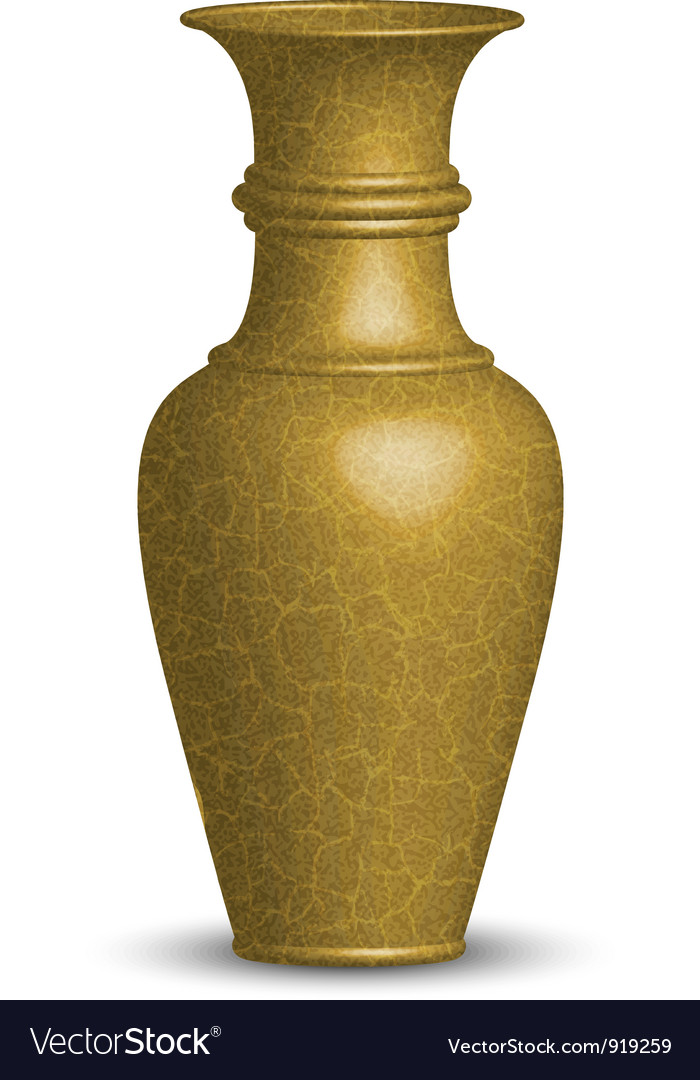 Golden vase vector image
