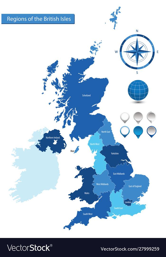 Map regions british isles