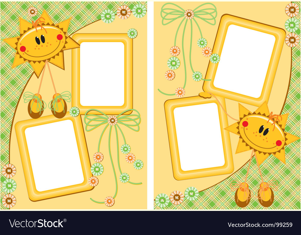 Scrap booking vector image