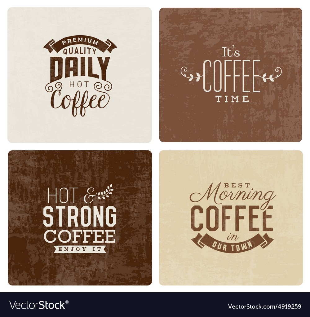 Vintage Coffee Badges and Typographic Elements vector image
