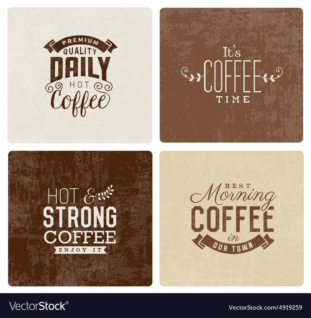 Vintage Coffee Badges and Typographic Elements