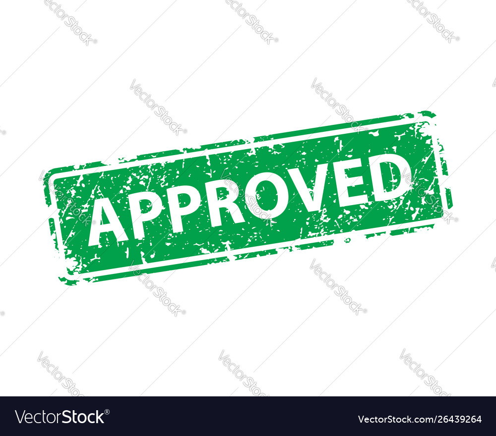 Approved sign sticker stamp texture
