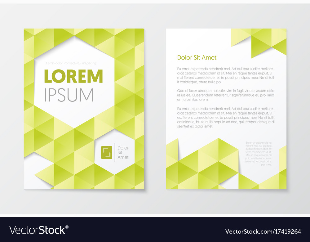 Business brochure templates abstract flyer design vector image