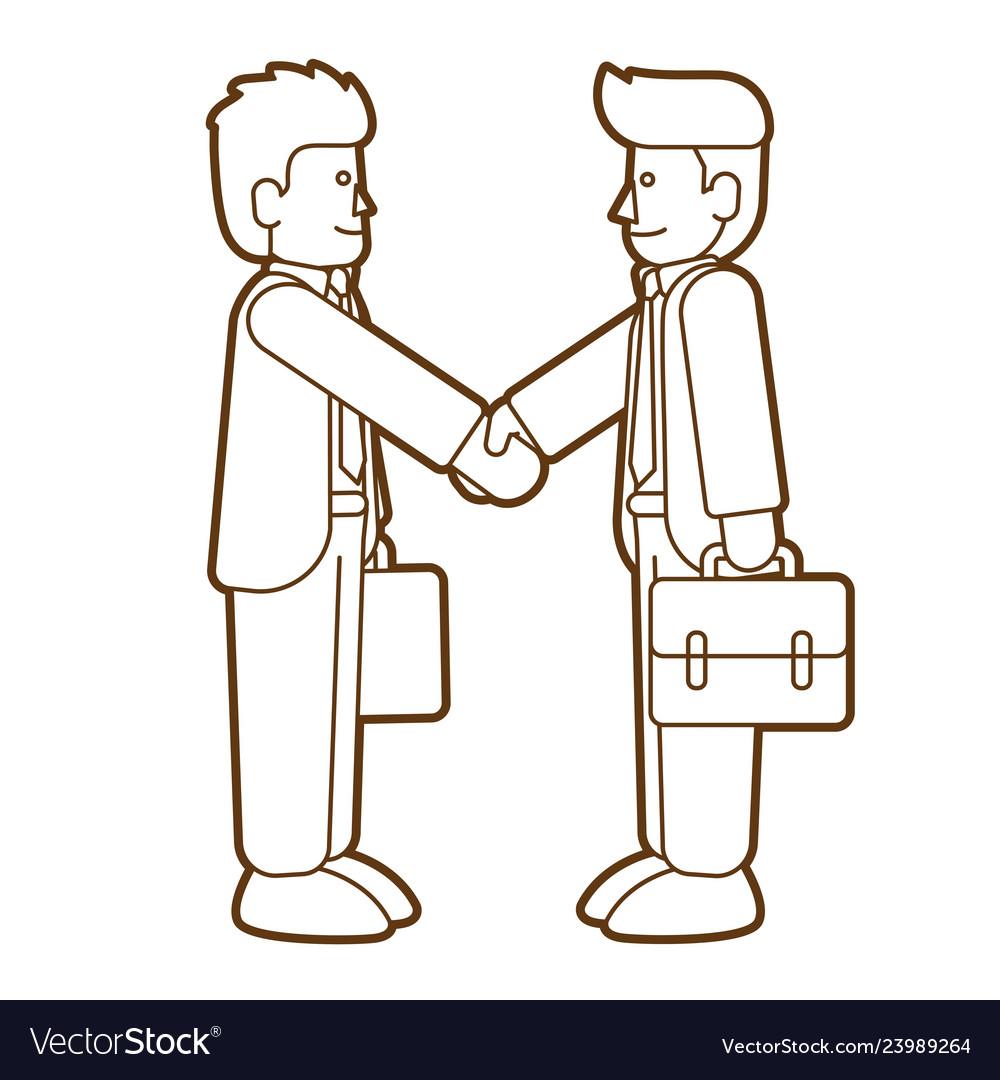 Businessmen handshake successful business graphic