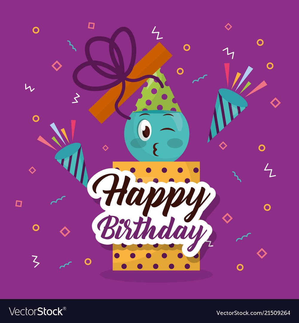 Happy Birthday Card Vector Image