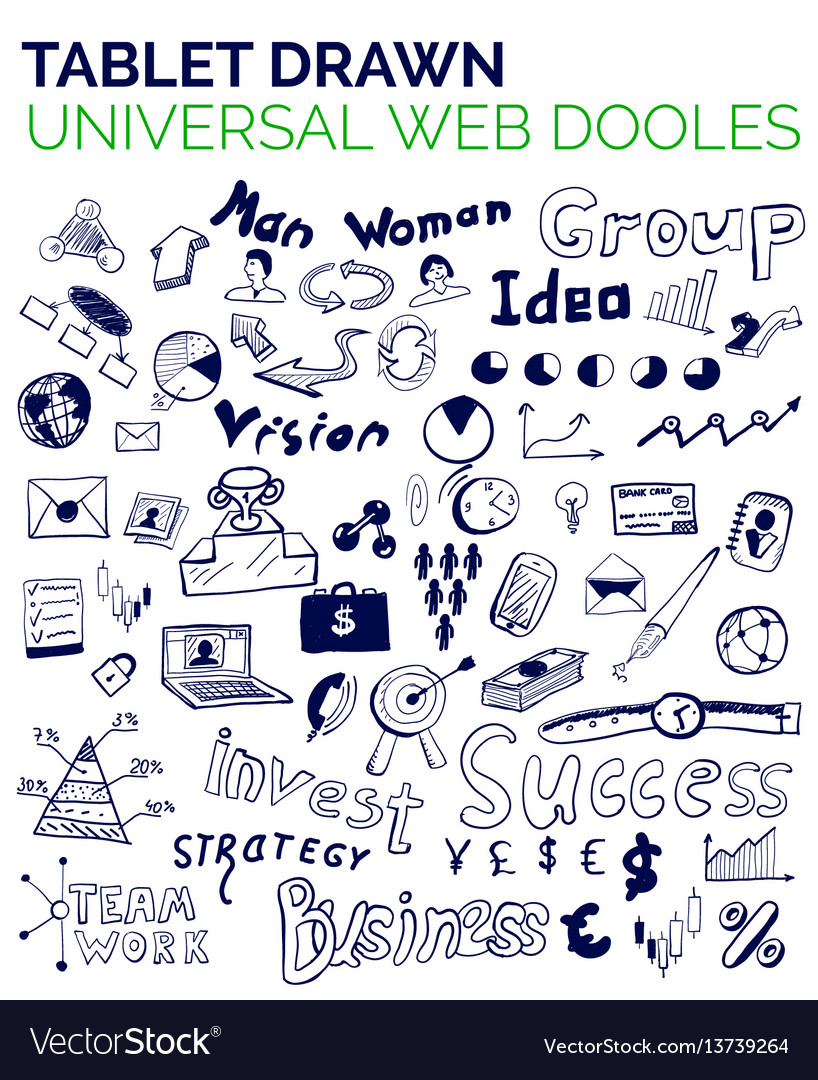 Mega collection of business web concepts hand vector image
