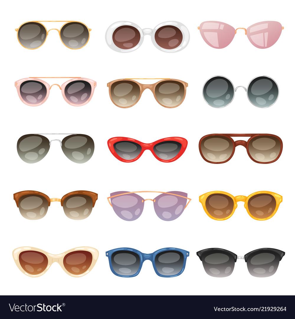 Sunglasses cartoon eyeglasses or sun