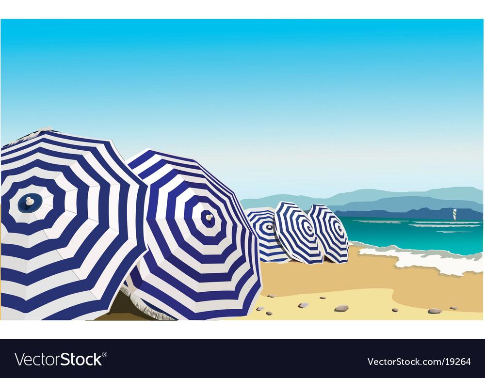 Umbrella in the beach