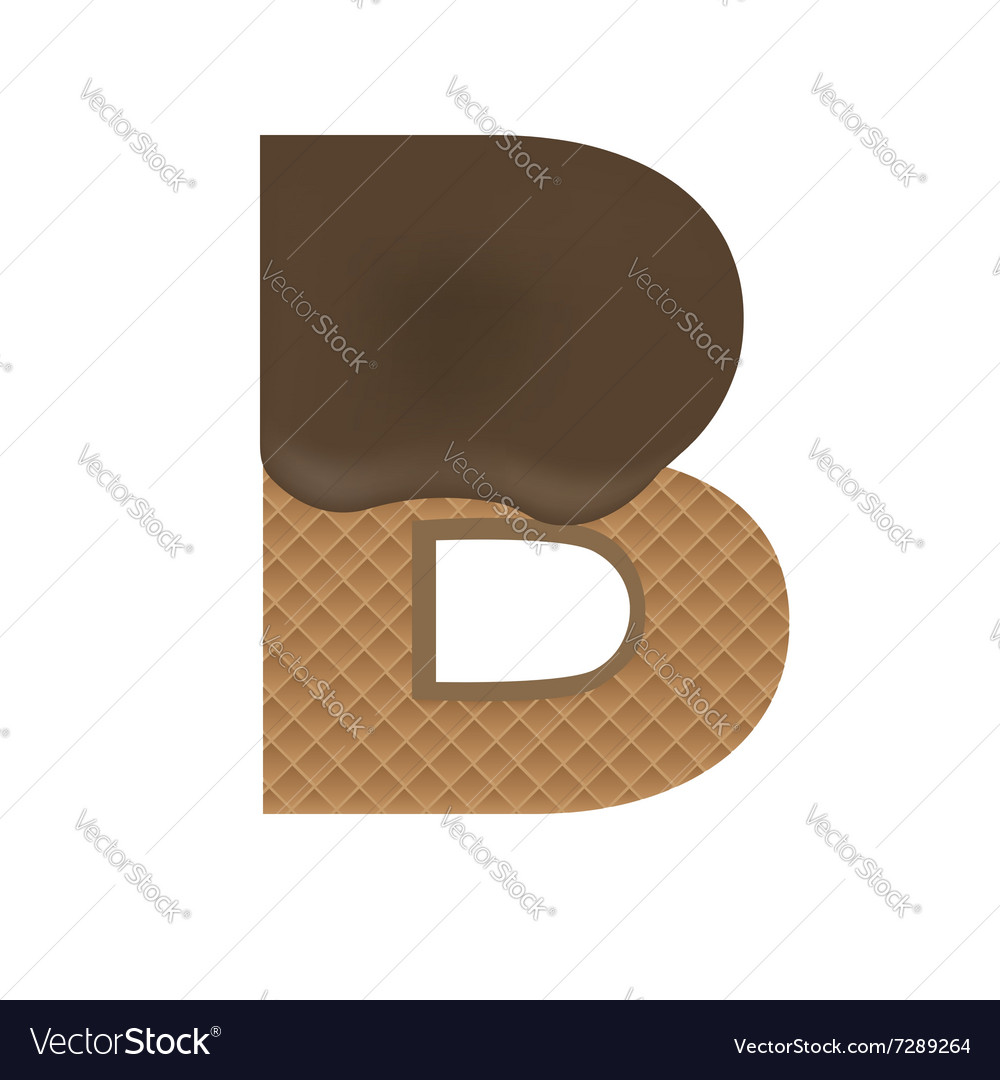 Wafer B letter vector image