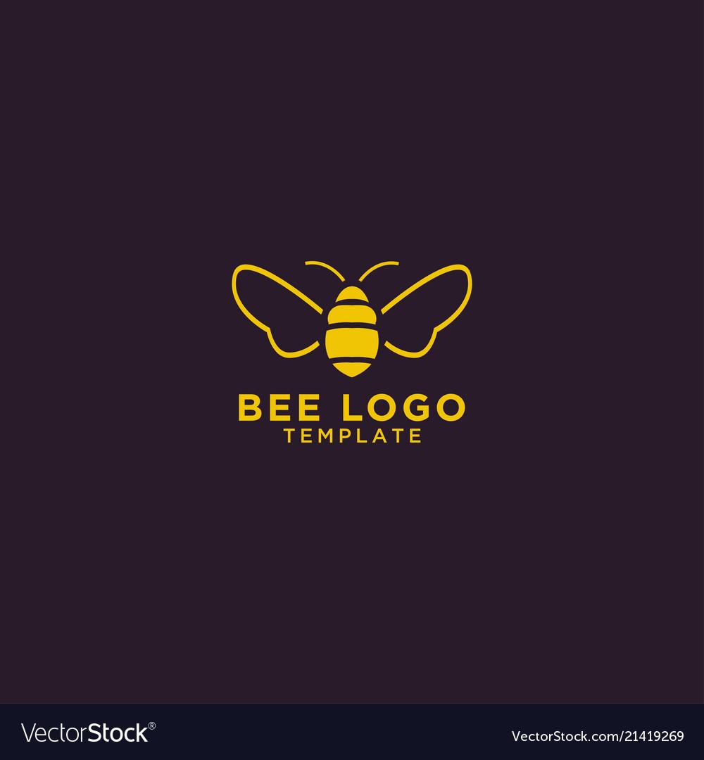 Bee logo design template