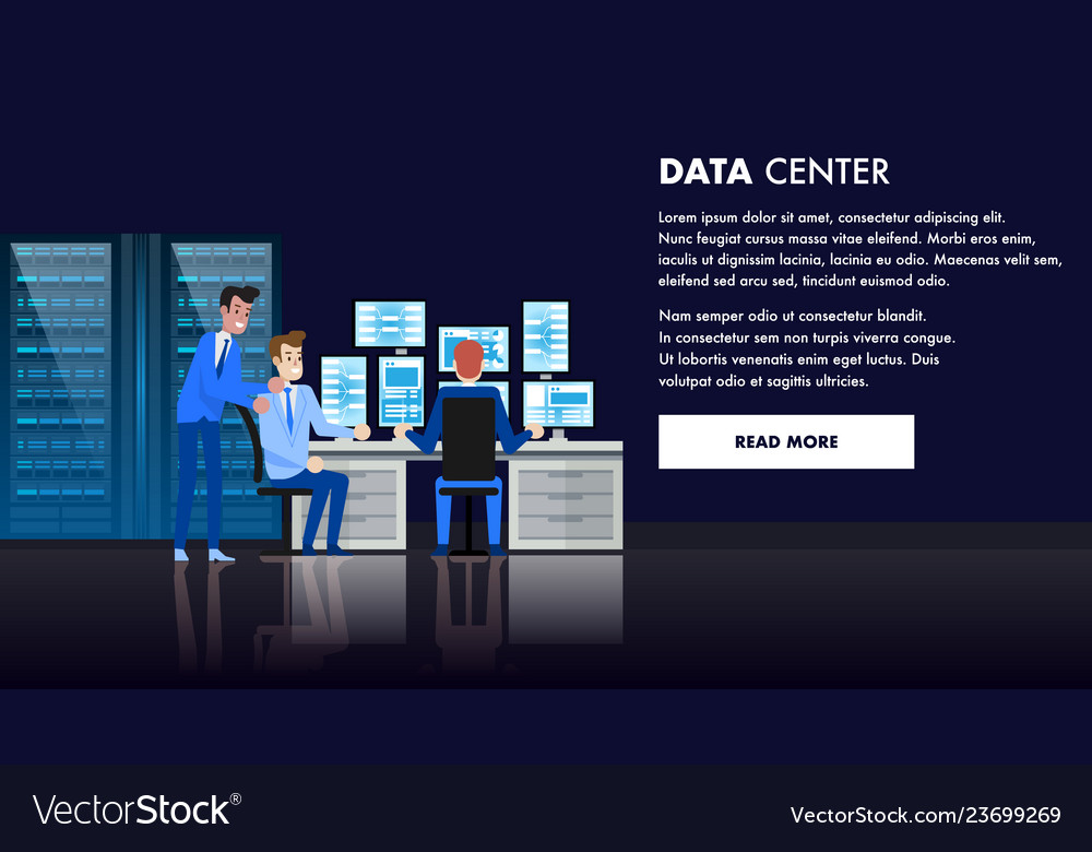 Computer data center database admin workstation