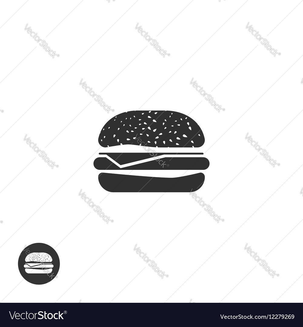 Hamburger icon isolated burger pictogram