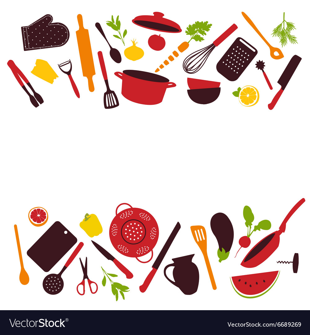 kitchen utensils background ppt kitchen tools background isolated vector image royalty free vector image