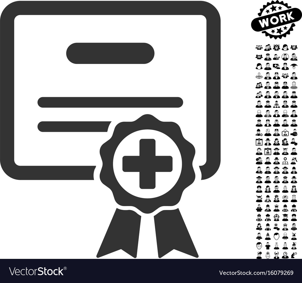 Medical certificate icon with men bonus royalty free vector medical certificate icon with men bonus vector image altavistaventures Choice Image