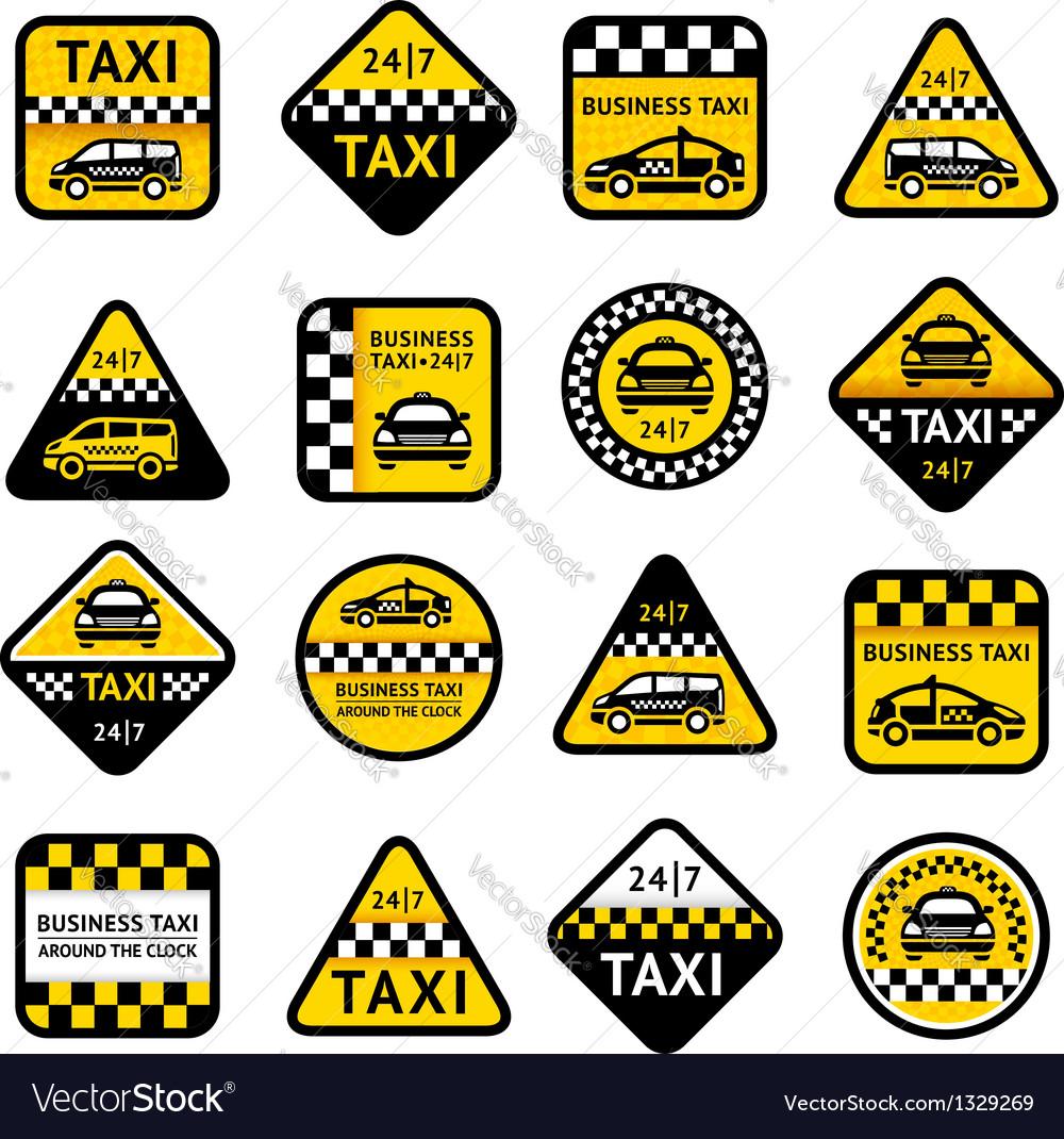 Taxi set labels