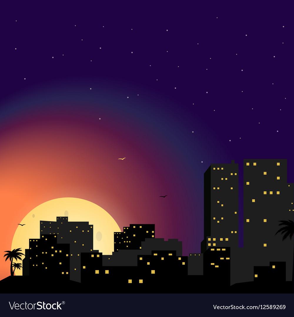 Town City at night