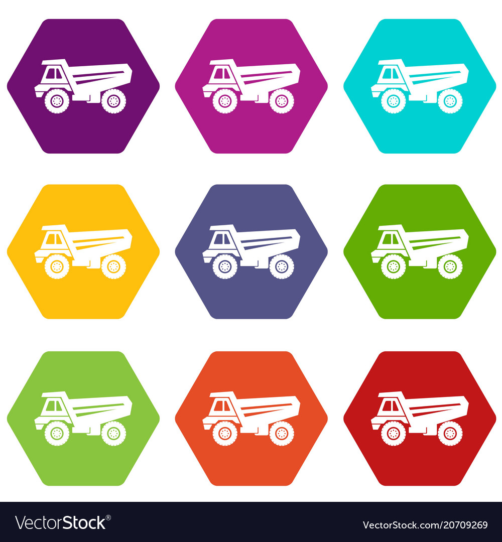 Truck icons set 9