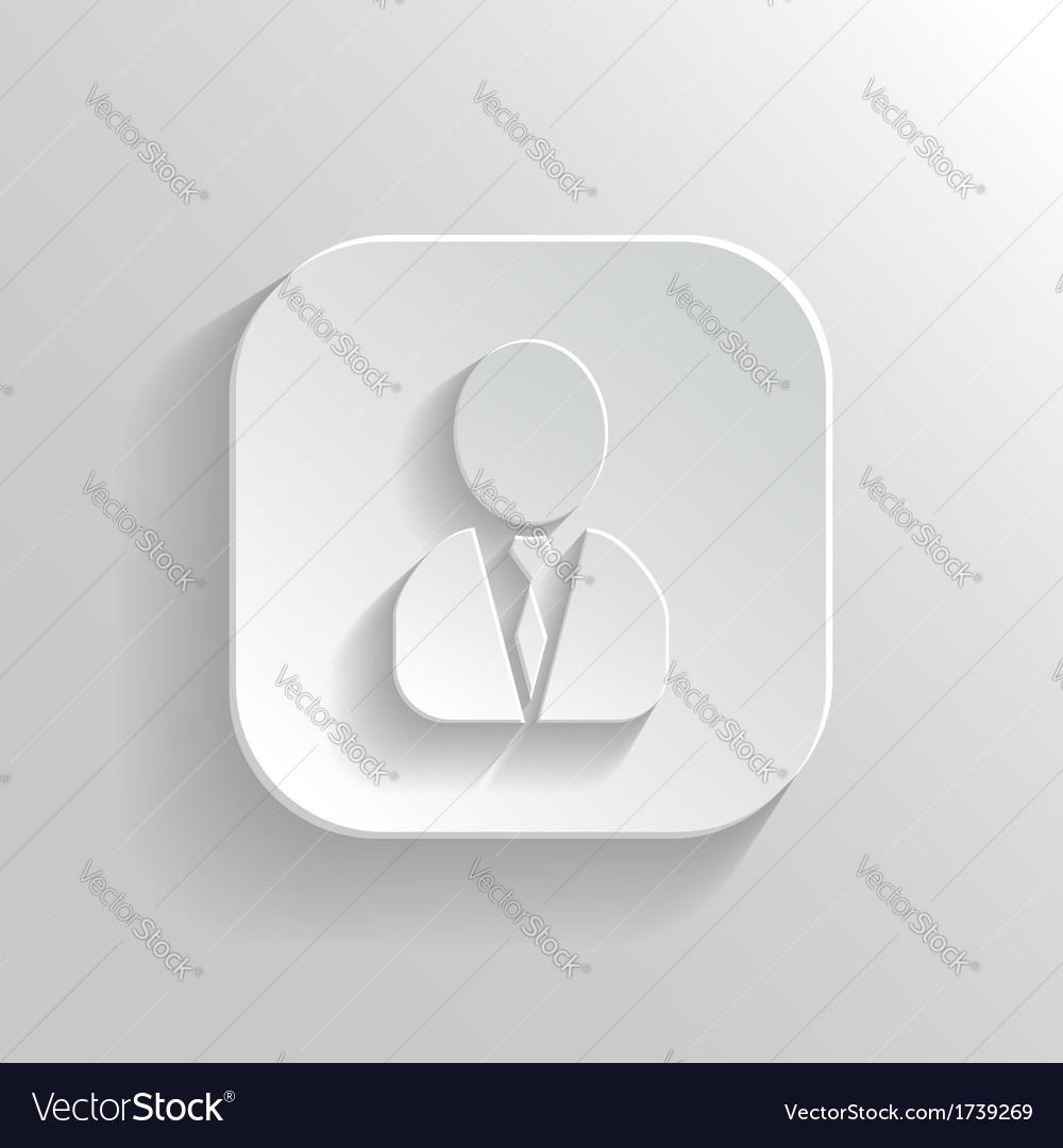 User icon - white app button