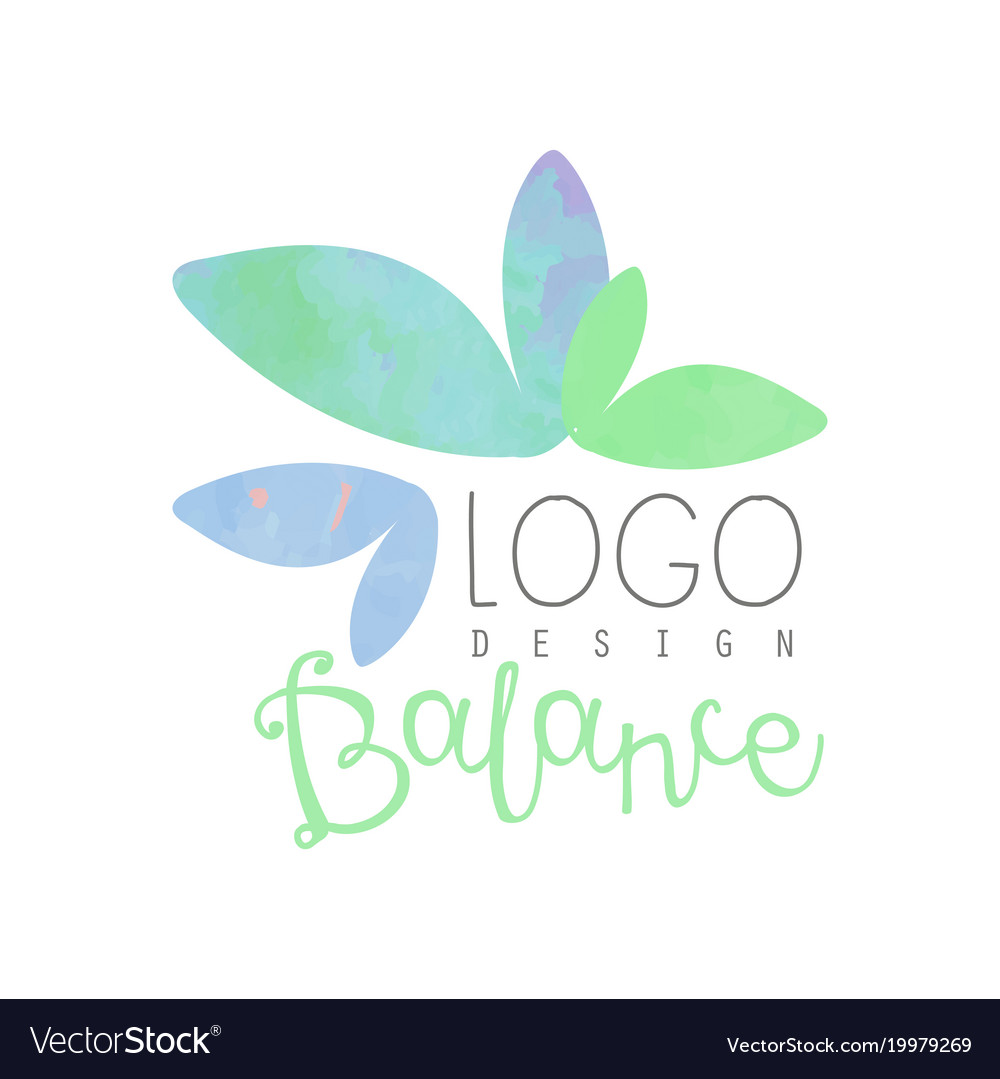 Watercolor Logo Design With Abstract Leaves