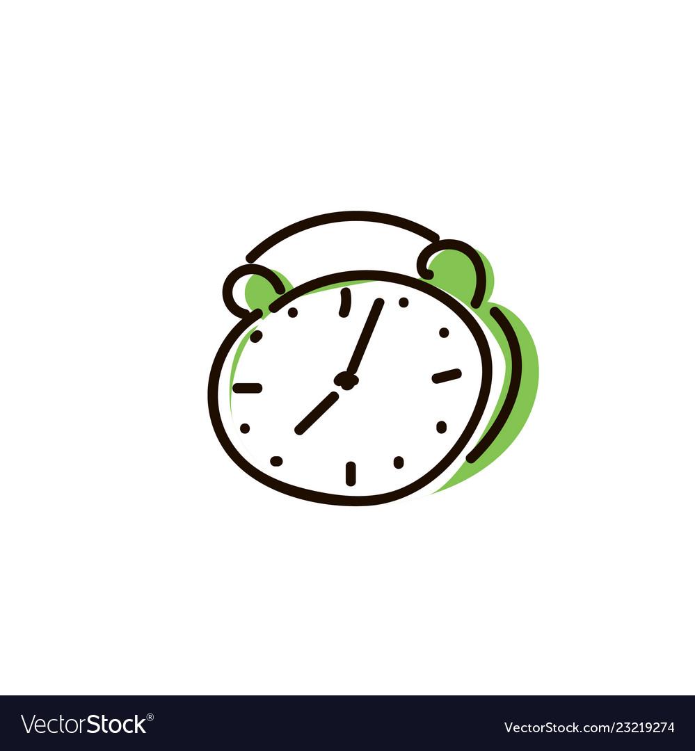 Alarm clock icon isolated on white