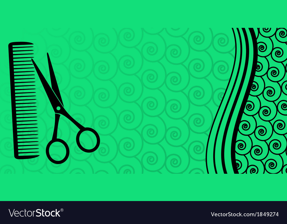 Background For Male Hair Salon Royalty Free Vector Image