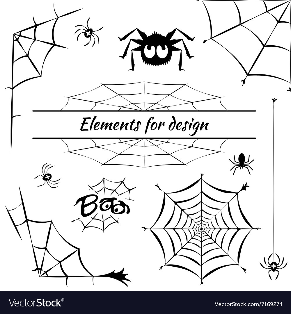 Cobweb set of elements for design